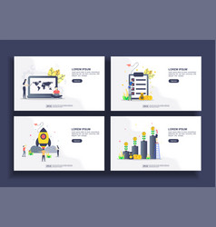 set modern flat design templates for business vector image