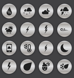 Set of 16 editable air icons includes symbols vector