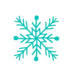 Snowflake closeup icon on vector