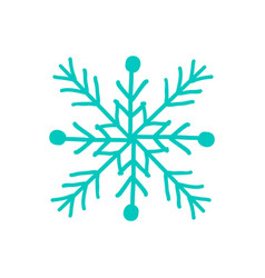 Snowflake closeup of icon on vector