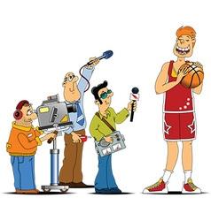 Sports cast cartoon vector