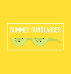 Summer epic sunglasses made out fruits vector