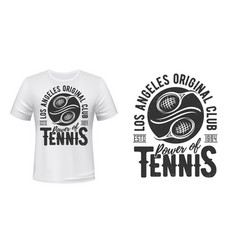 tennis t-shirt print mockup sport club team vector image