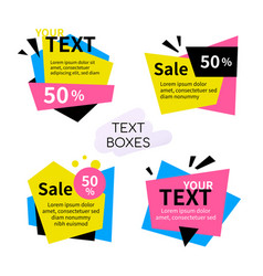 text boxes collection - set bright elements vector image
