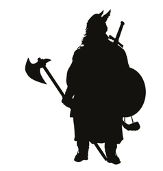 Viking silhouette Warriors Theme vector image