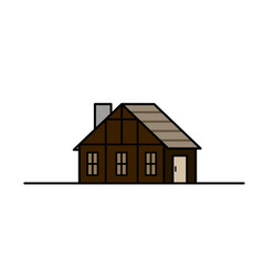 vintage medieval historical house and vector image