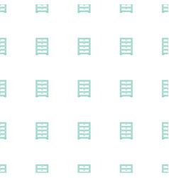 Wardrobe icon pattern seamless white background vector
