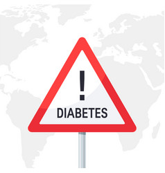 Warning diabetes concept in flat style vector