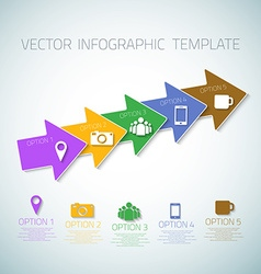 Web Infographic Arrows Template Layout With Icons vector image