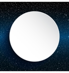 White circle banner on a starry sky Eps 10 vector