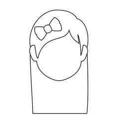 woman face cartoon vector image