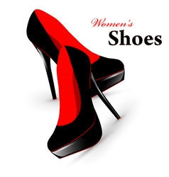 Woman shoes vector