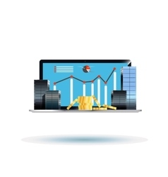 Business centers on the laptop vector image