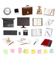 computer elements vector image vector image