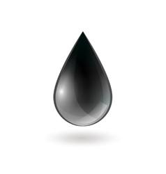Falling single oil drop vector