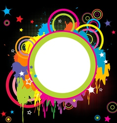 Grunge colored splashes vector image vector image