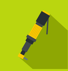 pneumatic screwdriver icon flat style vector image