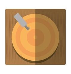 vinyl disc record music shadow vector image