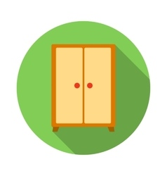 Wardrobe icon flat style vector image