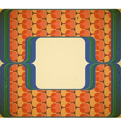 60s styled frame vector image vector image