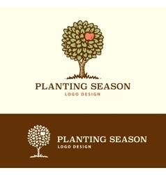 Logo Planting Season vector image
