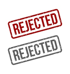 Rejected Stamp vector image