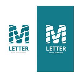 unique letter m logo design template vector image