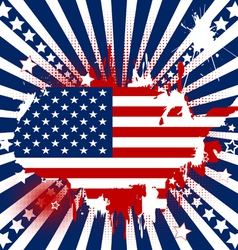 American theme background vector image vector image