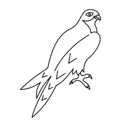 Arabian falcon icon outline style vector image