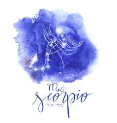 Astrology sign scorpio vector