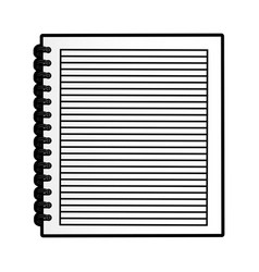 cute notebook graphic design vector image vector image