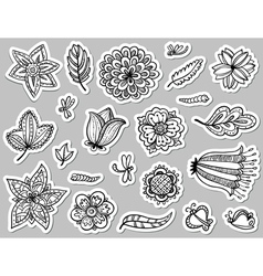 doodle tags vector image vector image
