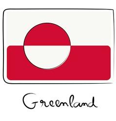 Greenland flag doodle vector image