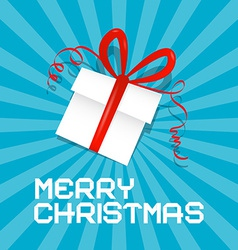 Merry Christmas Blue vector image vector image