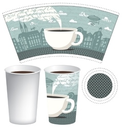 paper cup for tea or coffee vector image