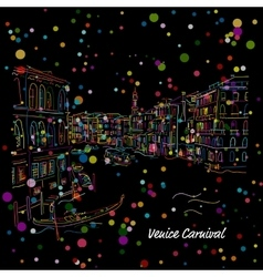 Venice Grand Canal Sketch for your design vector image