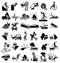 accident insurance icons vector image vector image