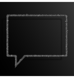 Frame Silver Sequins Speech Bubble Stars vector image vector image