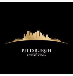 Pittsburgh Pennsylvania city skyline silhouette vector image
