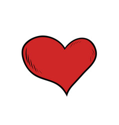 Red heart valentine vector