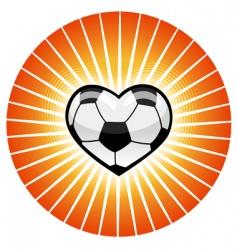 soccer heart vector image