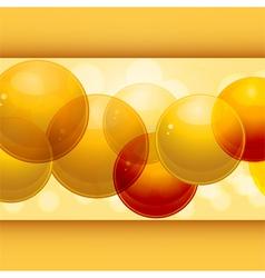 3d spheres panel vector image