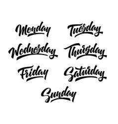7 days week handwritten lettering vector image
