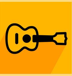 acoustic guitar simple icon vector image