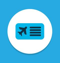 airplane ticket icon colored symbol premium vector image