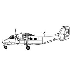 Antonov an-28 cash pzl m28 skytruck vector
