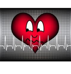 anxious looking heart vector image