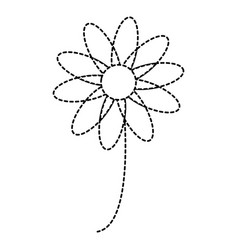 beautiful flower isolated icon vector image