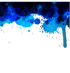Blue abstract ink wash painting vector