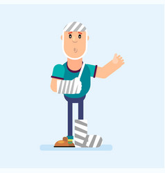 character in a bandage vector image